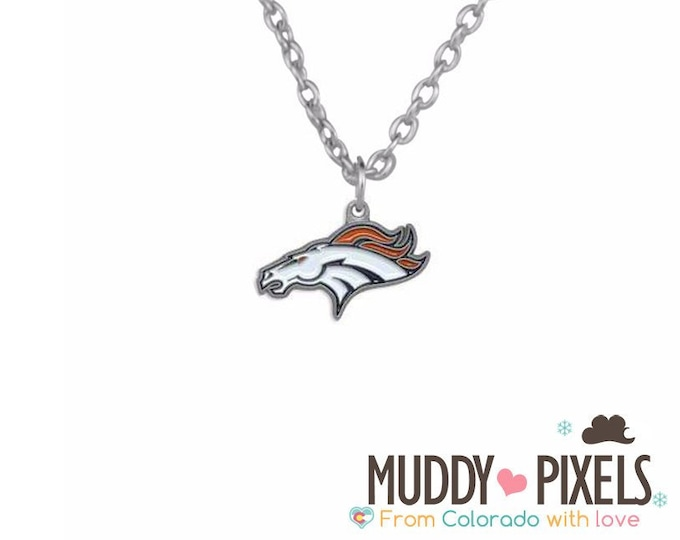 Denver Broncos Classic shaped necklace