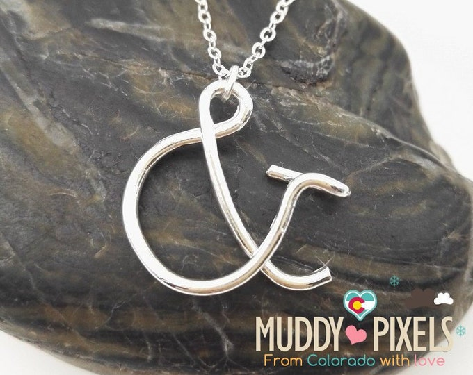 Unique Bent Metal Ampersand & and Necklace!
