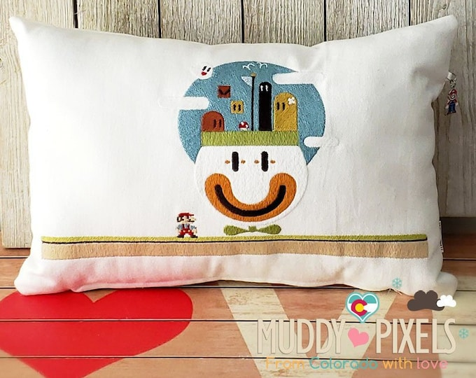 Cute Mario Bros Koopa Clown Car Pillow With Charm