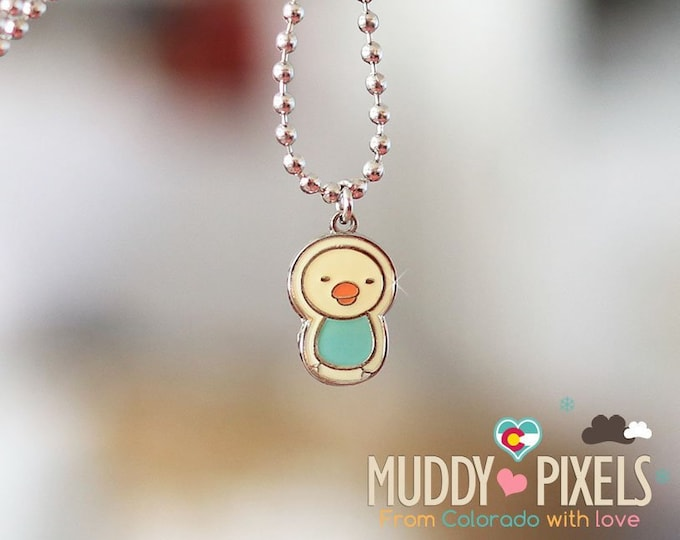 Rare! Rilakkuma Bird friend Enamel Necklace! Rilakkuma and Friends