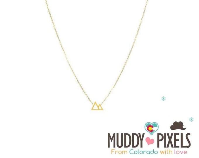 Tiny Minimalistic Colorado Mountain Pride Necklace 2 sizes