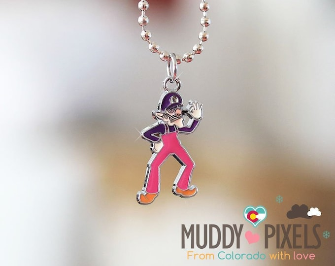 Mario Bros Necklace featuring Waluigi!