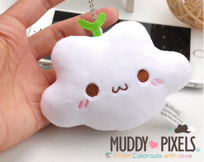 Kawaii Plush Adorable Cloud Charm with Loop