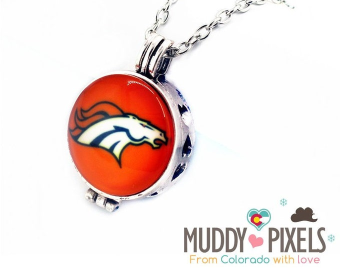 Denver Broncos Diffuser Locket! Perfume or Essential oils