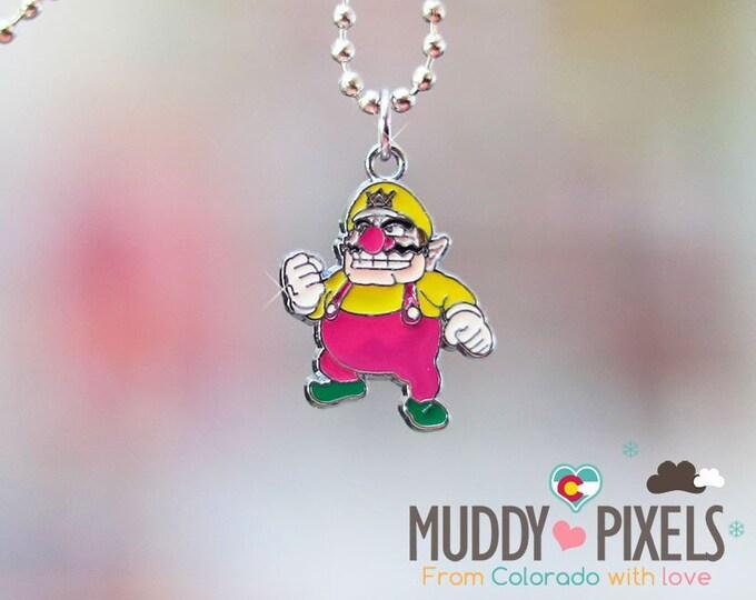 Mario Bros Necklace featuring Wario!