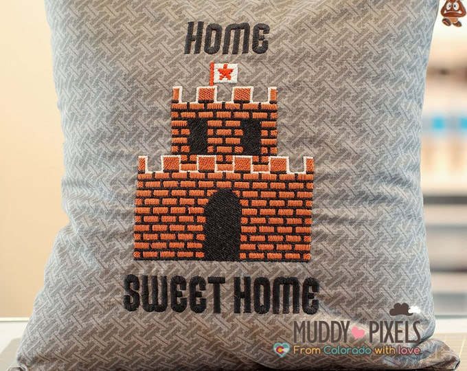 Mario Bros End Level Castle Charm Pillow