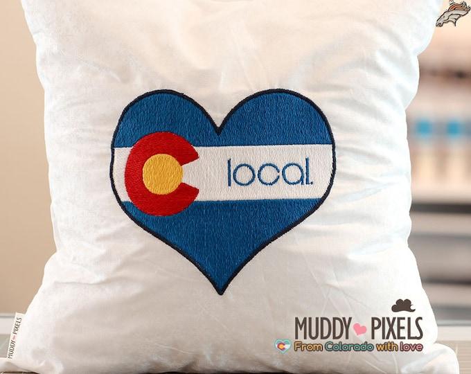 "Colorado Heart ""Local"" Custom Charm Pillow"
