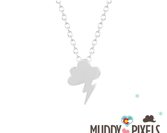 Cute and tiny Thunderstorm Cloud Necklace