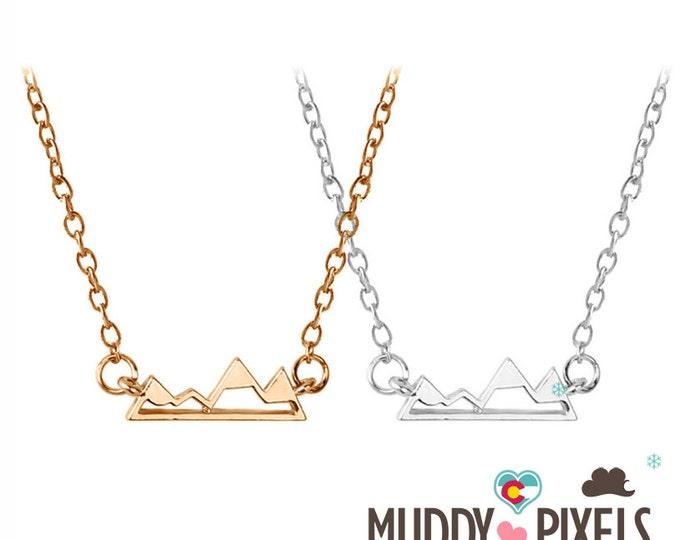 Tiny Colorado Mountain Pride Necklace - Under 1 Inch!