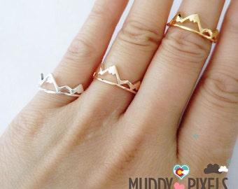 Tiny Colorado Mountain Pride Adjustable Ring