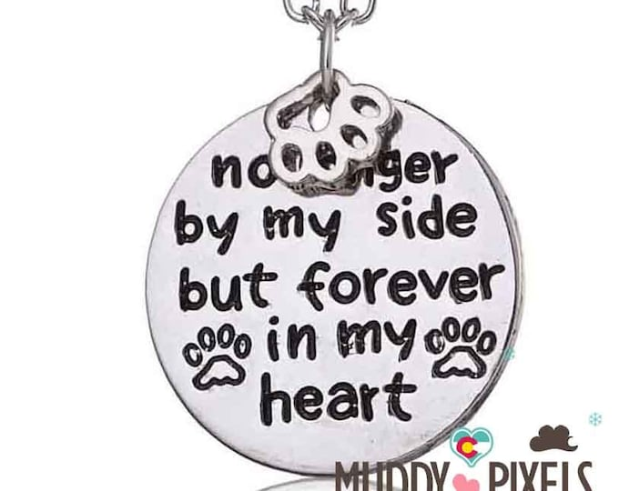 Kawaii Dog In Memory stamped Dog necklace! No longer by my side
