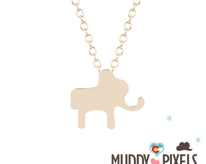 Cute and tiny Lucky Elephant Necklace