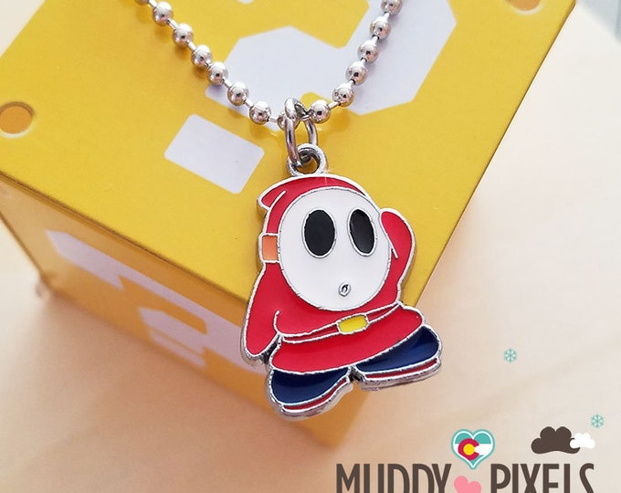 Mario Bros Necklace featuring ShyGuy