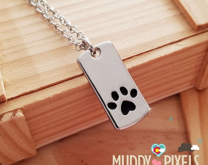 Cute animal pet mini dog tag filled with enamel  - so cute!