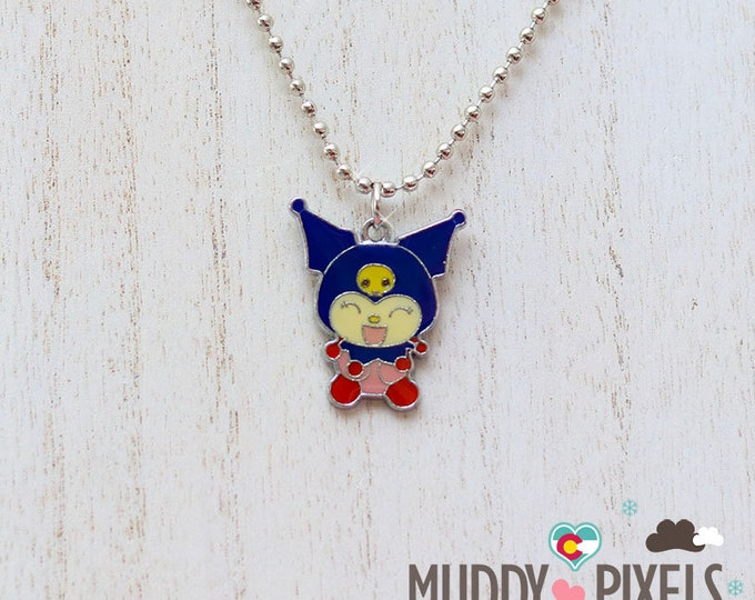 Rare! Kuromi Enamel Charm Necklace!