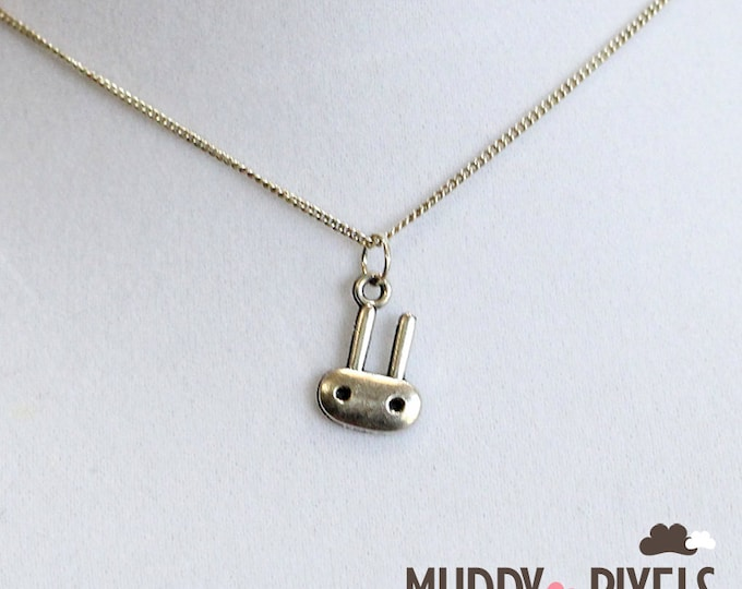 Kawaii Little Bunny Necklace - Silver