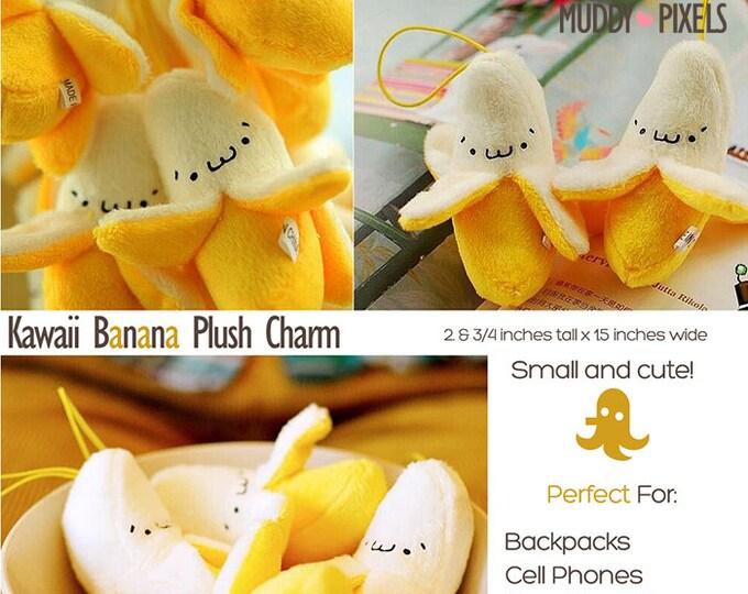 Kawaii Plush Adorable Banana Charm with Loop