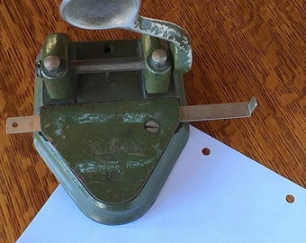 Vintage Cast Iron Paper Punch Marvel 60 by Wilson Jones Chicago