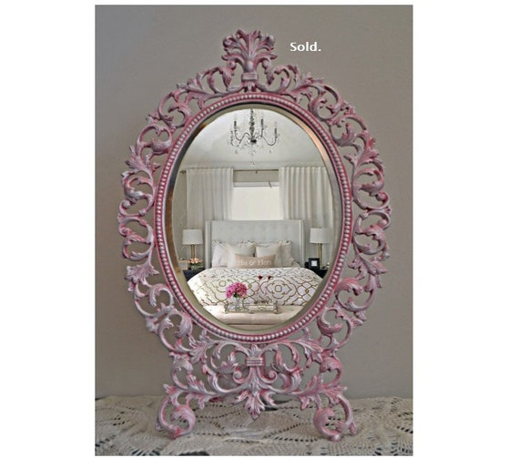 Sold - Princess Table Top Mirror