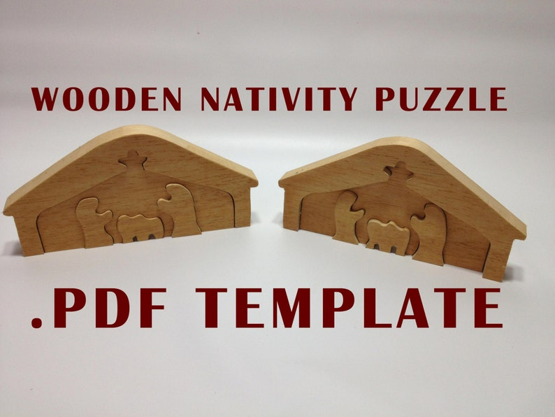 photo relating to Printable Nativity Scene Patterns referred to as Immediate Down load: Printable Nativity Manger Scene Puzzle Template / Habit PDF