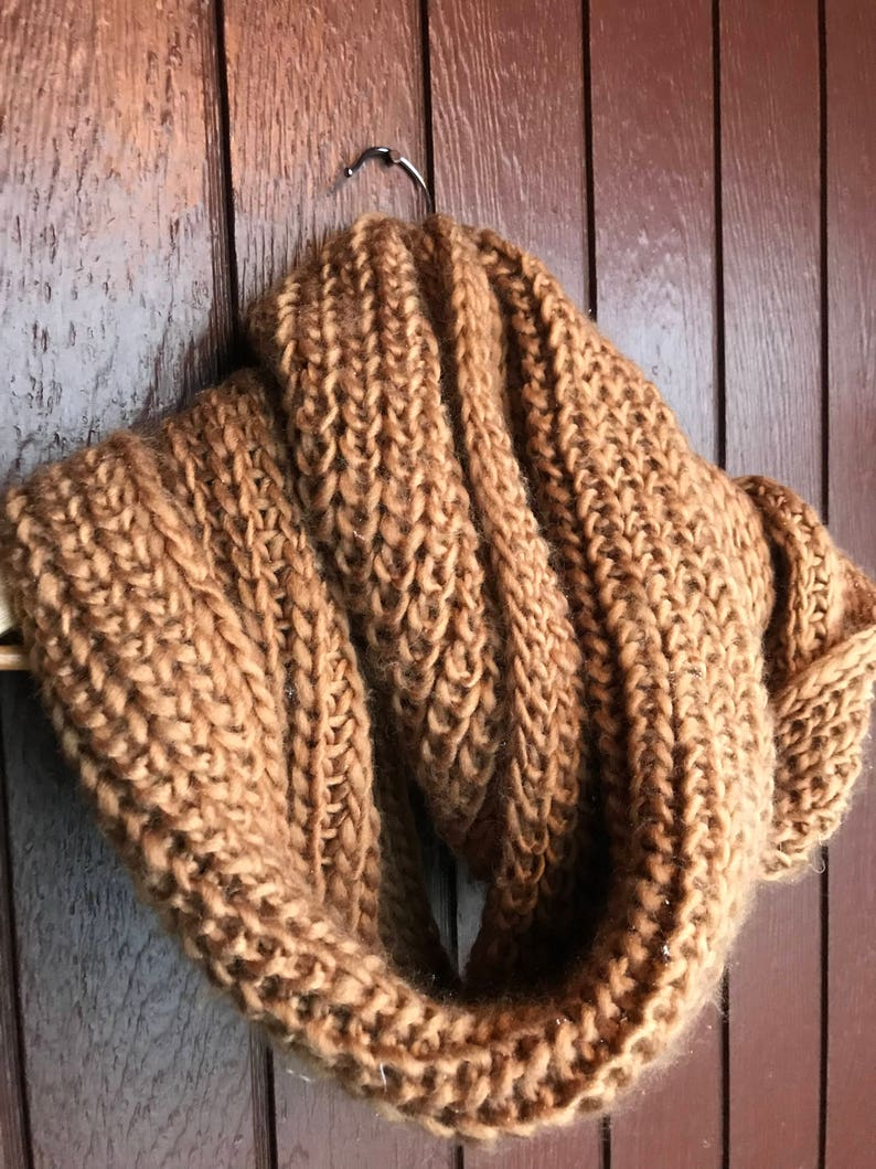 Icelandic handknit Winter Scarf infinity scarf Cowl,Chunky scarf Knit Scarf,man scarf,women scarf,women accessories,Copper Color Scarf