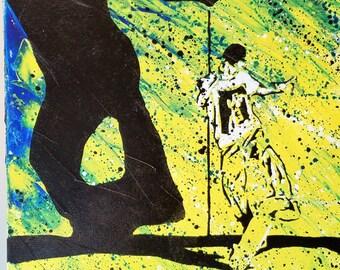 Canvas Wall Art- Mullen- Signed, Original Art- Acrylic on 18x24 Thick Gallery Canvas - Pop Art – Stencil Art- By Baker Joe Art