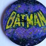 "Vinyl Wall Clock- "" Old School Batman"""