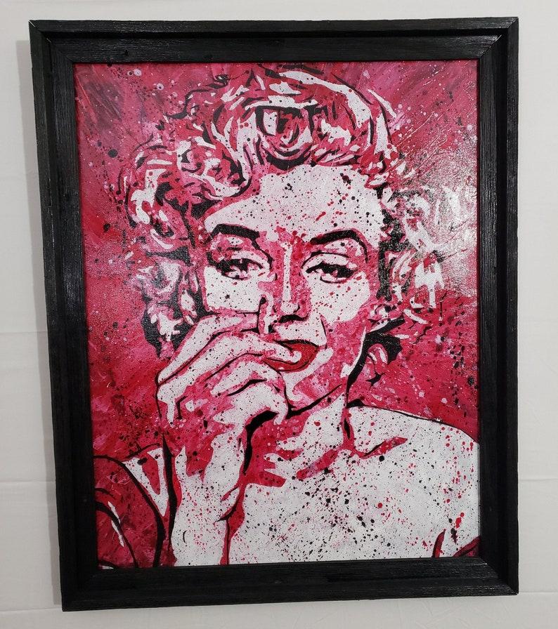 Canvas Wall Art Marilyn 1  Signed Original Art  Acrylic image 0