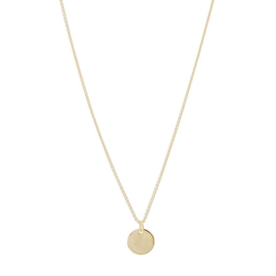 Hanging Sun Circle Disc NecklaceHONEYCAT Minimalist Delicate Jewelry