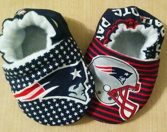 Handmade Patriots Inspired Baby Kid Shoes 8336fd6b8