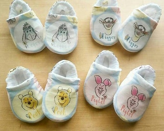 e3742c9c5501 Winnie the Pooh and Friends Inspired Baby Kid Booties