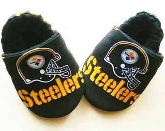 Football Steelers Inspired Baby Booties/Shoes