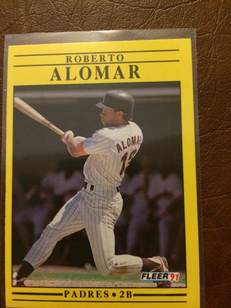 Roberto Alomar 1991 Toronto Blue Jays Second Baseman - 1991 Fleer baseball  Card #523 -
