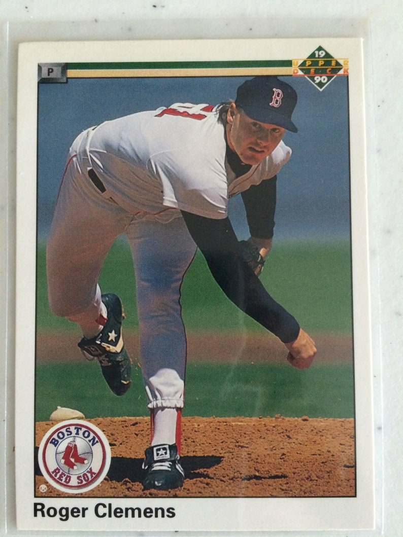 Roger Clemens 1990 Boston Red Sox Pitcher 1990 Upper Deck 323