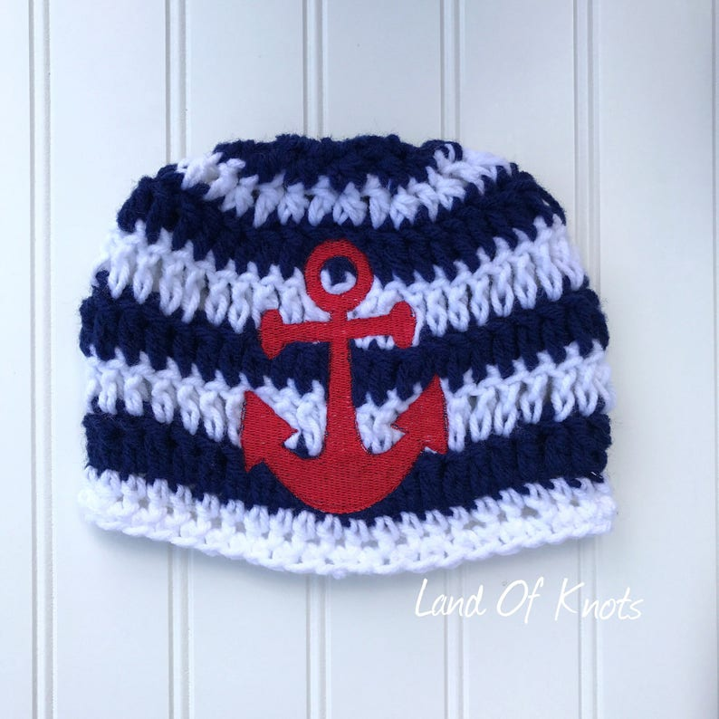 Cappello del marinaio neonato uncinetto cappello da marinaio  455546626a07