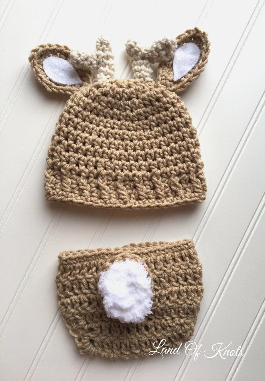 Newborn Deer Antler Hat Crochet Baby Hat Deer Antler Hat Etsy
