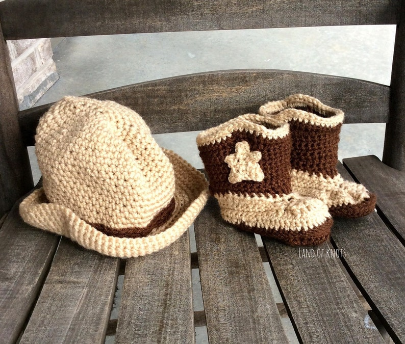 310f5d8ba01 Crochet baby cowboy boots and cowboy hat baby boots baby