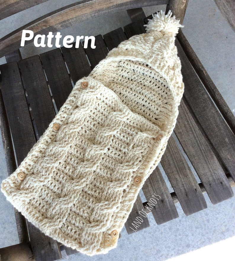 Pattern Crochet Swaddle Pattern Cable Crochet Pattern Etsy