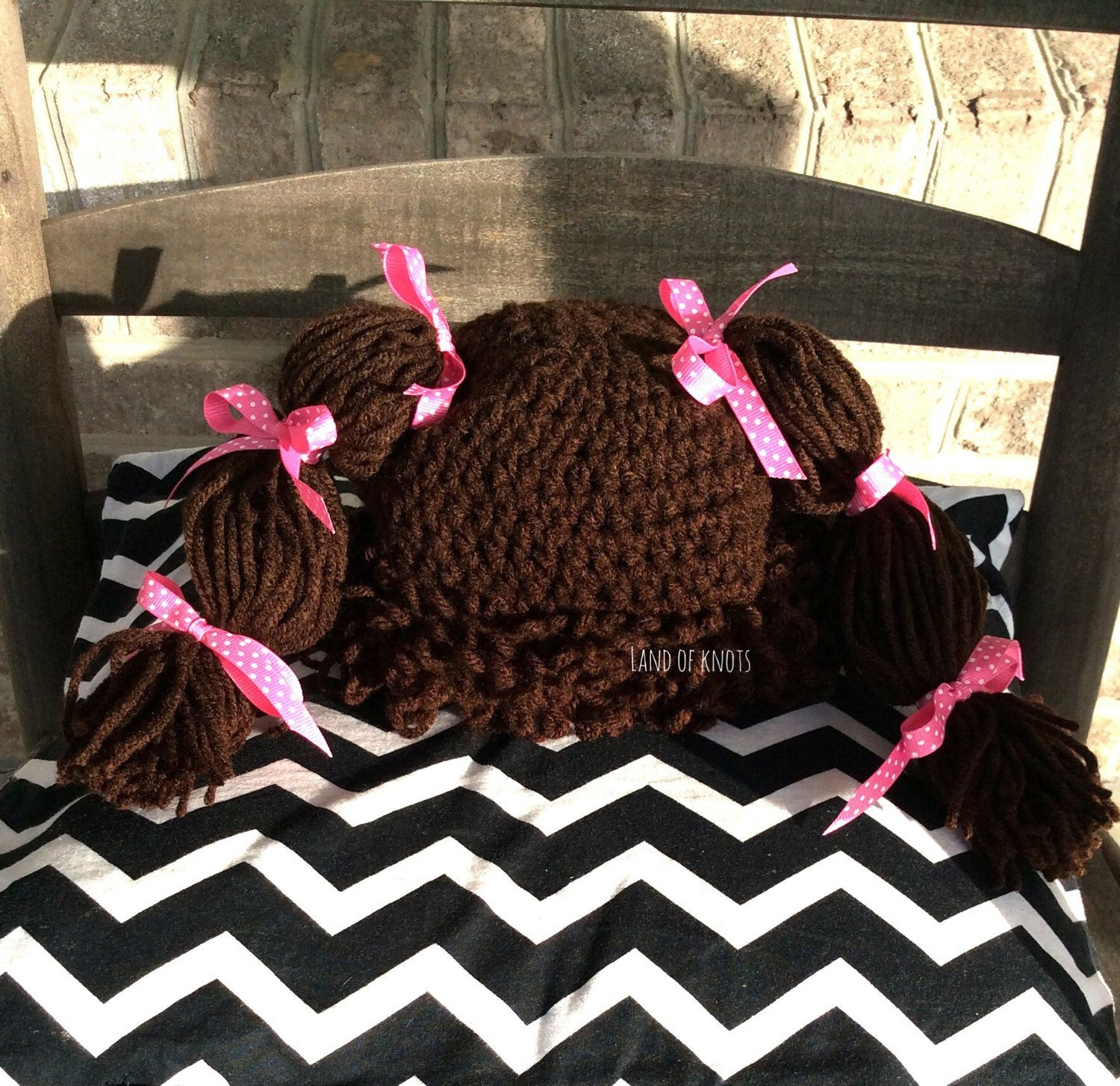 Crochet Cabbage Patch Wig Brown Cabbage Patch Wig Cabbage Etsy