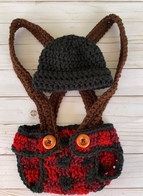 Crochet plaid hat lumberjack hat toddler lumber jack hat buffulo plaid hat adult lumberjack hat