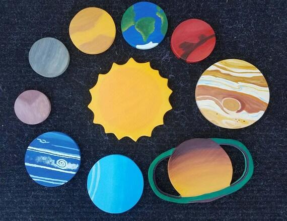 Solar System wooden solar system solar system wall decor