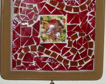 Cardinal Mosaic Wall Hanging