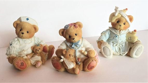 Cherished Teddies Dr Darlene Makebetter Figurine, Bear Figurine, Dr Figurine, Retired Vintage Collectible Figurine, Gift Idea