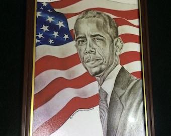 Barack Obama (Framed Artwork) - 44th President of the USA