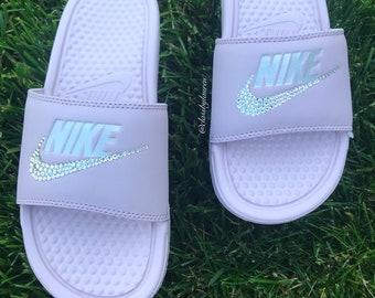 bb45b4256b003e Swarovski Nike Benassi Slides Pink