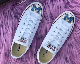 df8f07879b67 Swarovski University of Michigan Converse Women Shoes