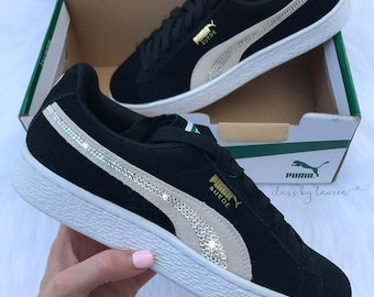 Swarovski Classic Suede Black Puma Shoes aa6e50f26