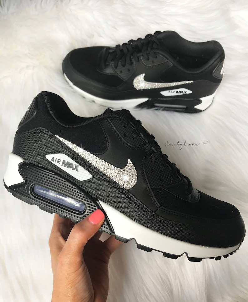 buy popular 3bfe3 32b42 Swarovski Nike Air Max 90 Women   Etsy