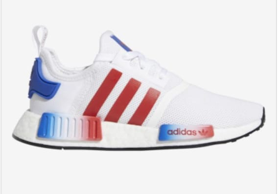 huge selection of d41cf 49b49 Swarovski Adidas NMD Shoes Red White Blue