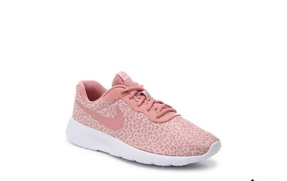 Swarovski Nike Tanjun Pink Leopard Girls Womens Shoes  fbc597102b8f